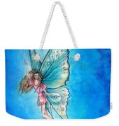 Dancing Fairy In Blue Sky Weekender Tote Bag