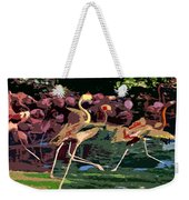 Dancing Flamingos  Weekender Tote Bag
