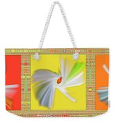 Dancing Flower Trio Weekender Tote Bag