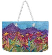 Dancing Flowers Weekender Tote Bag