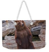 Dancing Grizzly Weekender Tote Bag