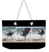 Dancing Heron Triptych Weekender Tote Bag