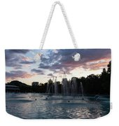 Dancing Jets And Music Sunset - Plovdiv Singing Fountains Weekender Tote Bag