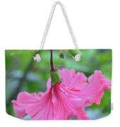 Dancing Lady Pink Hibiscus Weekender Tote Bag