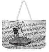 Dancing Lyrics Weekender Tote Bag