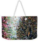 Dancing Peacock Weekender Tote Bag