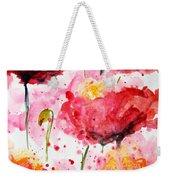 Dancing Poppies Galore Watercolor Weekender Tote Bag