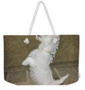 Dancing Puppy Weekender Tote Bag