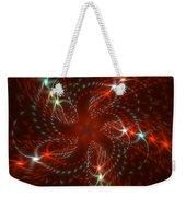 Dancing Red Flower Star In Motion Weekender Tote Bag