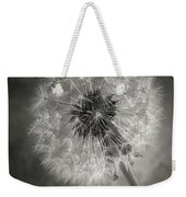 Dandelion In Black And White Weekender Tote Bag