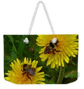 Dandelions And Bees Weekender Tote Bag