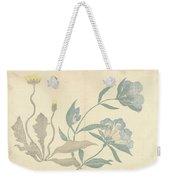 Dandelions And Blue Flowers, Nakamura Hochu, 1826 Weekender Tote Bag