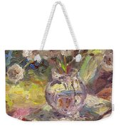 Dandelions Flowers In A Vase Sunny Still Life Painting Weekender Tote Bag
