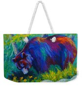 Dandelions For Dinner - Black Bear Weekender Tote Bag
