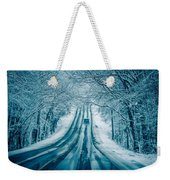 Dangerous Slippery And Icy Road Conditions Weekender Tote Bag