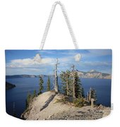Dangerous Slope At Crater Lake Weekender Tote Bag