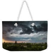 Dangerous Stormy Clouds Over Warsaw Weekender Tote Bag