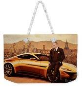 Daniel Craig As James Bond Weekender Tote Bag