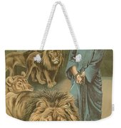 Daniel In The Lions Den Weekender Tote Bag by John Lawson