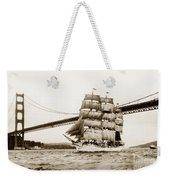 Danmark Sailing Under The Golden Gate Bridge San Francisco Weekender Tote Bag