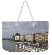 Danube Riverside With Old Buildings Budapest Hungary Weekender Tote Bag