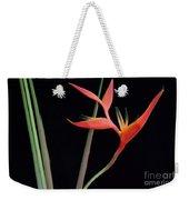 Daring Heliconia Acuminata Weekender Tote Bag