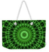 Dark And Light Green Mandala Weekender Tote Bag