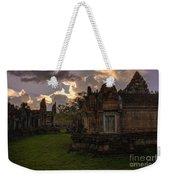 Dark Cambodian Temple Weekender Tote Bag