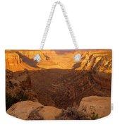 Dark Canyon Sunset Weekender Tote Bag