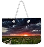Dark Clouds At Sunset Weekender Tote Bag