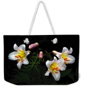 Dark Day Bright Lilies Weekender Tote Bag
