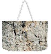 Dark Fissures On Limestone Rock Weekender Tote Bag
