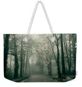 Dark Gloomy Alley In Woods Weekender Tote Bag