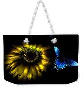 Dark Glow Butterfly Weekender Tote Bag