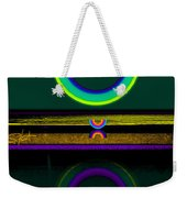 Dark Green Lake Weekender Tote Bag