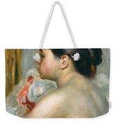 Dark-haired Woman Weekender Tote Bag