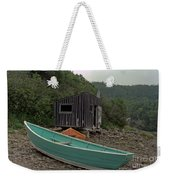 Dark Harbour Fisherman Shack And Boat Weekender Tote Bag