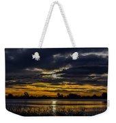 Dark Lake Sunrise Weekender Tote Bag