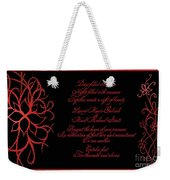 Dark Nights Bright Days Wedding Invitaion Weekender Tote Bag