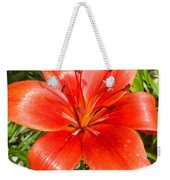 Dark Orange Red Lily II Weekender Tote Bag