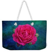 Dark Pink Rose Weekender Tote Bag