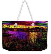 Dark Psychedelic Sunset Weekender Tote Bag