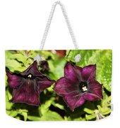 Dark Purple Petunia Weekender Tote Bag