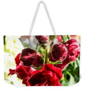 Dark Red Fancy Snapdragon Weekender Tote Bag