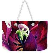 Dark Tulip Macro Weekender Tote Bag