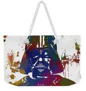 Darth Vader Paint Splatter Weekender Tote Bag