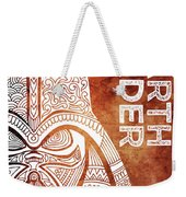 Darth Vader - Star Wars Art - Brown And White Weekender Tote Bag