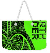 Darth Vader - Star Wars Art - Green Weekender Tote Bag