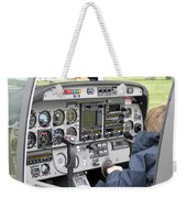 Dashboard Of A Robin Dr400 President Weekender Tote Bag
