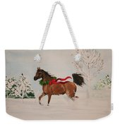 Dashing Thru The Snow Weekender Tote Bag